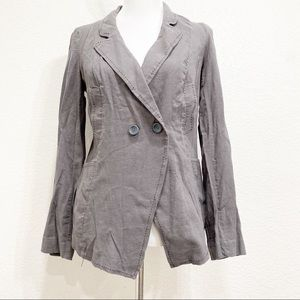 Free People Relaxed Fit Linen Gray Blazer Size XS